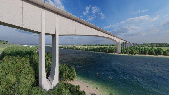 """Planuojamas """"Rail Baltica"""" tiltas Jonavoje"""