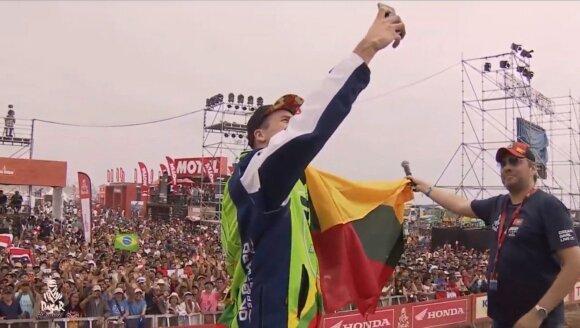 Arūno Gelažninko asmenukė nuo Dakaro podiumo