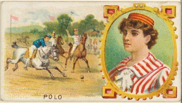 """""""Goodwin & Company"""" kortelė su polo žaidėjais, 1889 m., Metropoliteno meno muziejaus nuotr."""