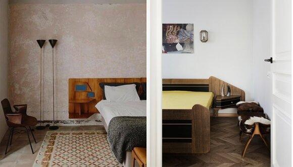 Gio Ponti lova kairėje ir 'Zunda' lova dešinėje.