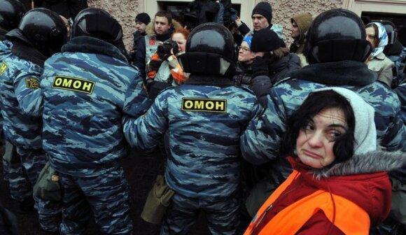 Maskvoje policija sulaikė keliolika protestavusiųjų
