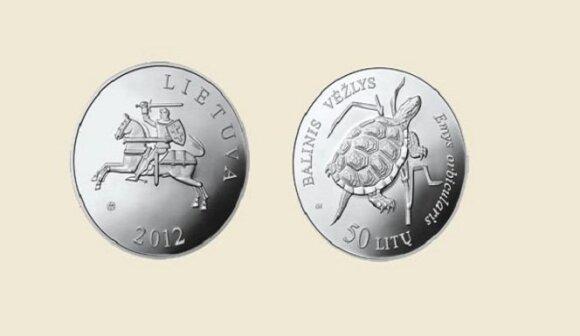 Naujoji proginė moneta skirta nykstantiems baliniams vėžliams