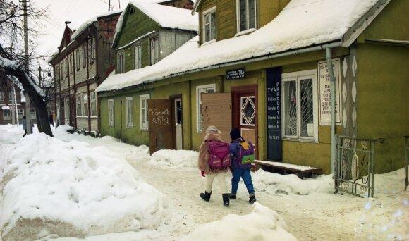 Žiema Žagarėje. 1996m.