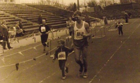 """Linas Jocius su tėvu """"Senvagės"""" bėgime"""