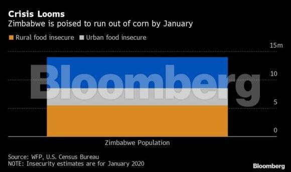 Zimbabvės ekonomikai griūvant, šaliai gresia juodžiausias per visą istoriją badas