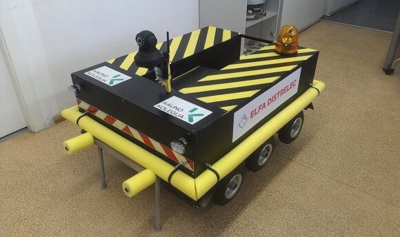 Nuotoliniu būdu valdoma roboto transportavimo platforma, Kauno kolegijos nuotr.