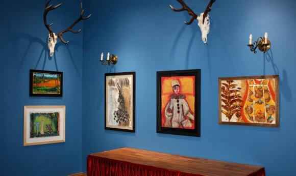 Vaidoto Žuko darbų ekspozicija Alantos dvaro salėse