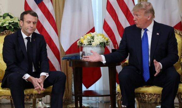 Emmanuelis Macronas, Donaldas Trumpas