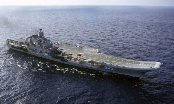 """Rusijos lėktuvnešis """"Admiral Kuznecov"""""""