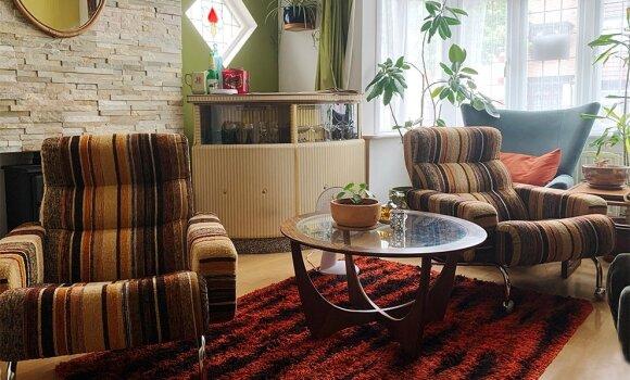1970 metų Švediški foteliai klientų namuose Anglijoje