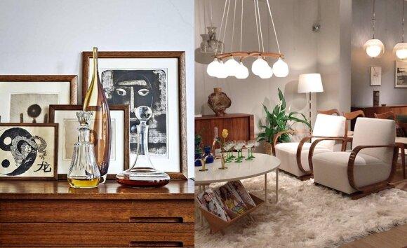 Panašius fotelius gamino Kauno fabrikas. Naujam gyvenimui prikelti pervilkus 'boucle' gobelenu. GBG Deco butikas Švedijoje.