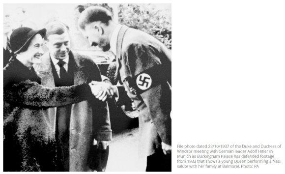 S. Raštikio, pasiuntinio Berlyne K. Škirpos ir Vokietijos kanclerio A. Hitlerio bendra nuotrauka