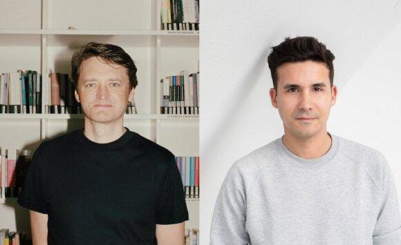 Kuratoriai Valentinas Klimašauskas (Visvaldo Morkevičiaus nuotr.) ir João Laia  (Pirje Mykkänen nuotr., Suomijos nacionalinė galerija)
