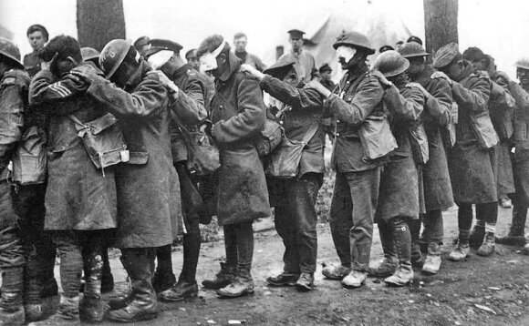 British 55th Division gas casualties, 10 April 1918