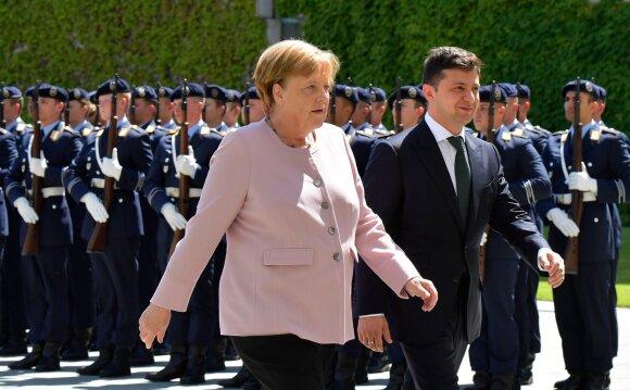 Angela Merkel, Volodymyras Zelenskis