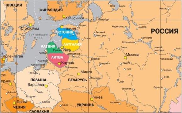"""R. Iščenkos parengtas Gudijos ir Baltijos šalių """"pertvarkymo"""" planas"""