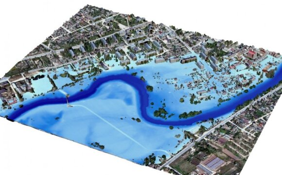 Skaitmeninio žemėlapio modelis/ Aplinkos apsaugos agentūros iliustr