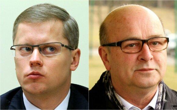 Incumbent Kaunas Mayor Andrius Kupčinskas, left, lost to VIsvaldas Matijošaitis