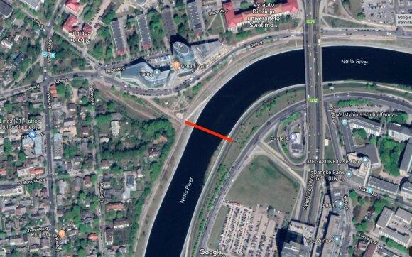 Vilniaus centre už 5 mln. eurų išdygs naujas pėsčiųjų tiltas