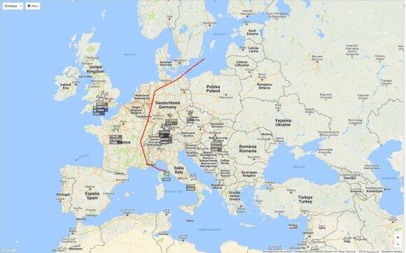 """Bepiločio orlaivio """"Global Hawk"""" skrydžiai virš Lietuvos"""