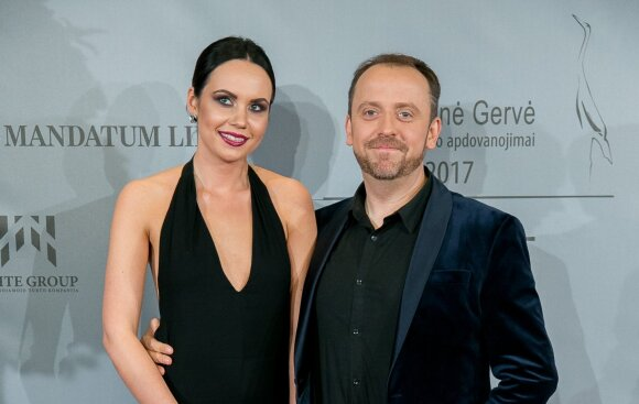 Andrius Žiurauskas su žmona