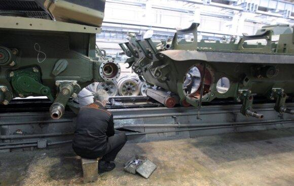 """Bendrovės """"Uralvagonzavod"""" kuriamos kovos mašinos"""
