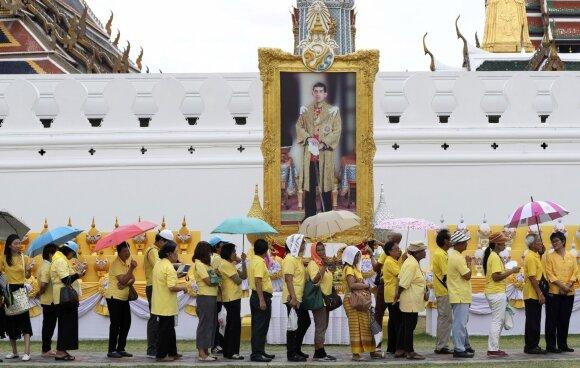 Visuomenei – reta proga pažvelgti į uždarų Tailando karališkųjų rūmų gyvenimą: prasidėjo pompastiška ceremonija