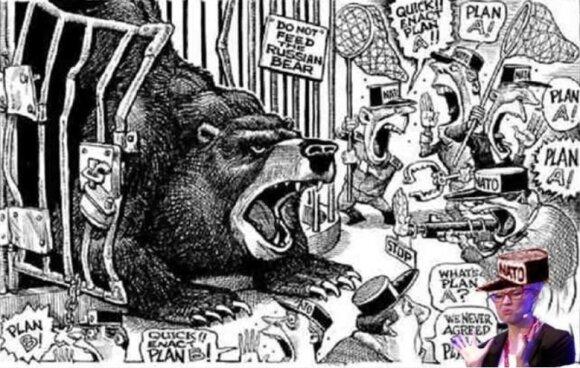 Pašiepianti J. Aro karikatūra, patalpinta portale MV-Lehti