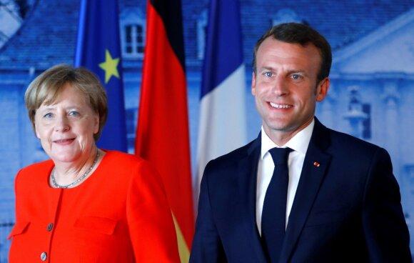 A. Merkel ir E. Macronas