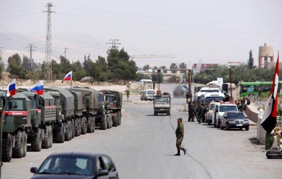 Rusijos kariai Damaske