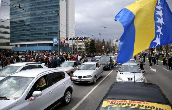 Protestas Sarajeve reikalauja vakcinų pirkimo