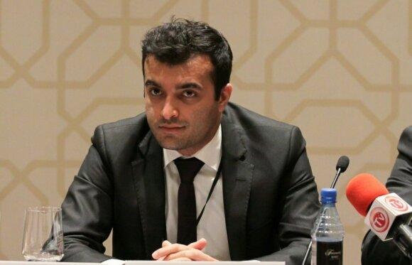 """Rasulas Jafarovas, """"Sport for Rights"""" iniciatorius. Aziz Kazimov nuotr."""