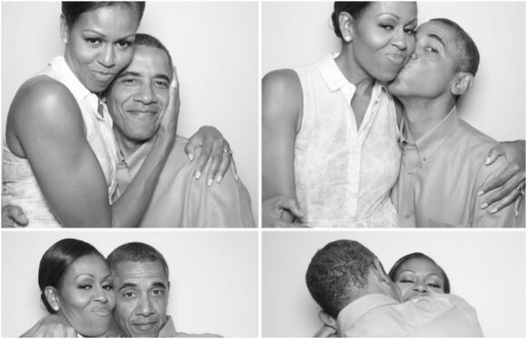 Michelle ir Baracas Obama