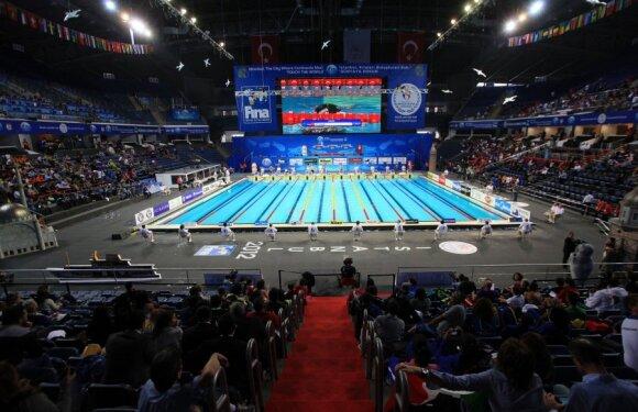 Stambulo Sinan Erdem arenoje vyksta plaukimo 25 m baseine pasaulio čempionatas