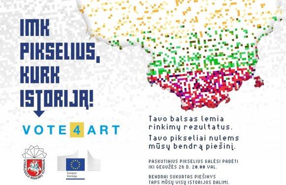 "Iniciatyvos ""Vote4Art"" plakatas"