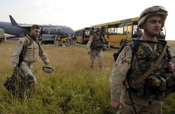 Gruzijos kariai grįžo iš Irako