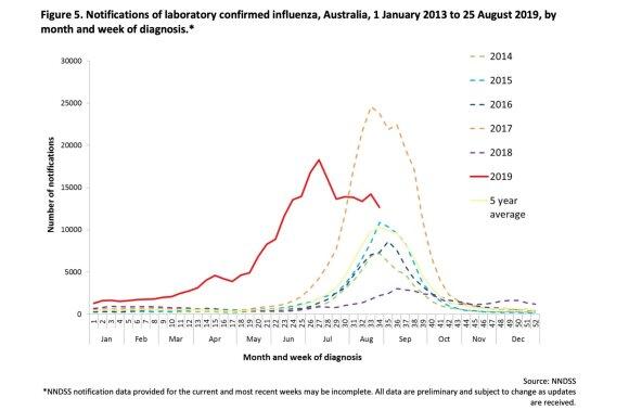 Sergamumas gripu Australijoje