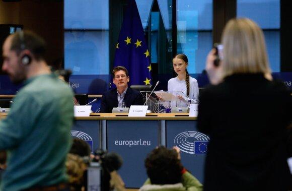 Greta Thunberg Briuselyje