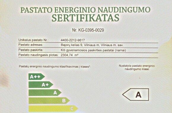 Pastato energinio efektyvumo sertifikatas