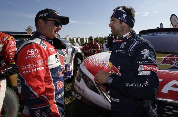 Ginielis De Villiersas (kairėje) ir Cyrilis Despres