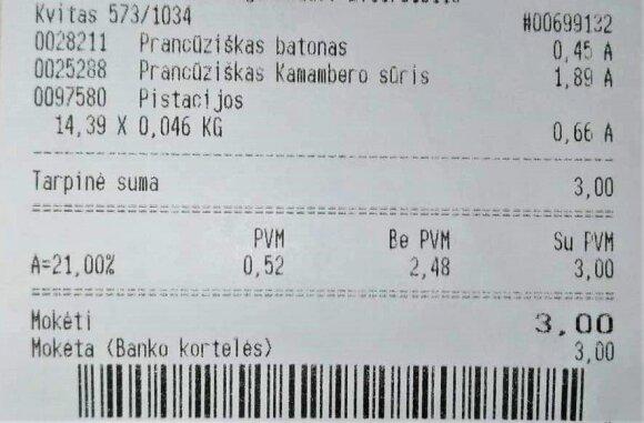 Vakarienė už 3 eurus