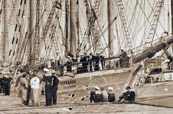 Nuotrauka iš jūrų kapitono P. Korneliuko archyvo