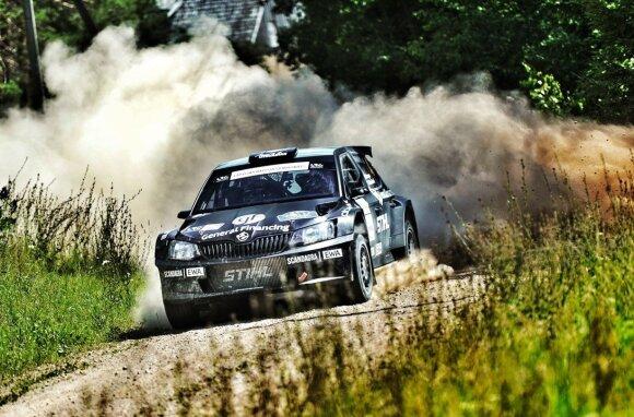 """""""Rally Latvija"""" teko važiuoti ir žvyru, ir asfaltu"""