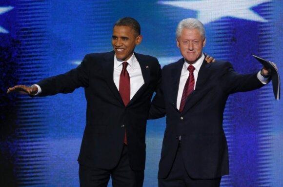 Barackas Obama ir Billas Clintonas