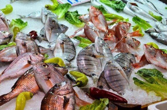 Žuvys parduotuvėje