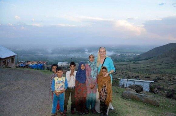 Ieva Jonaitienė su vaikais