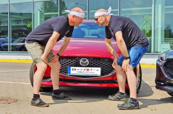 """Mazda Red Dot Team"" ekipažai"