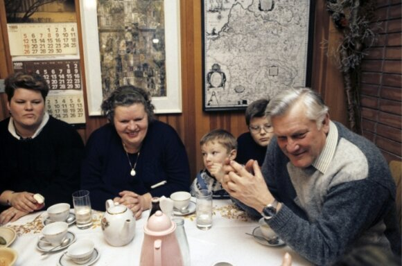 Algirdas Brazauskas su pirmąja šeima