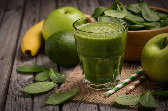 Sotus ir sveikas žaliasis kokteilis