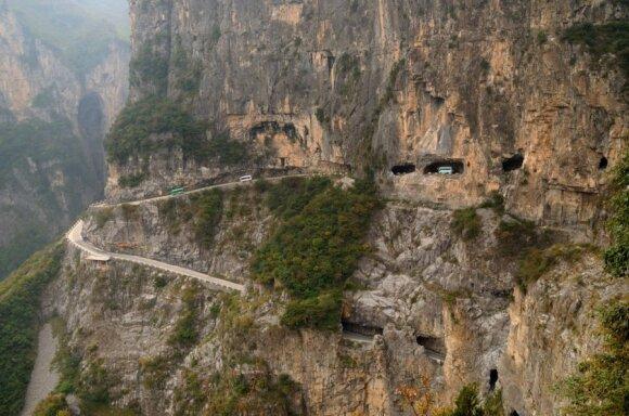 Kelias Guoliang apylinkėse, Kinija
